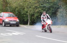 Rob on his YSR80
