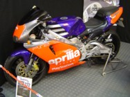Paul Love's Aprilia RS250, Stafford, Oct 2007