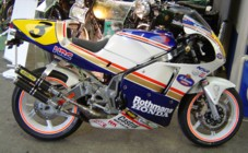 Paul Wilshaw's Honda NS500R special, Stafford, Oct 2007